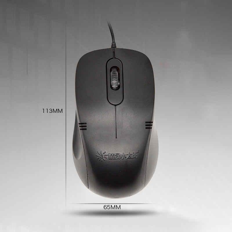 2383 Kabel Ps2 Jack USB Komputer Gaming Mouse Laptop 800 DPI Photoelectric Game Mouse untuk PC LOL Pubg Permainan