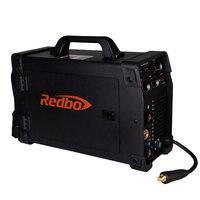 Redbo сварочный аппарат MIG200 MMA TIG миг функции сварочные аппараты 220 В аксессуары сварочный аппарат Мода