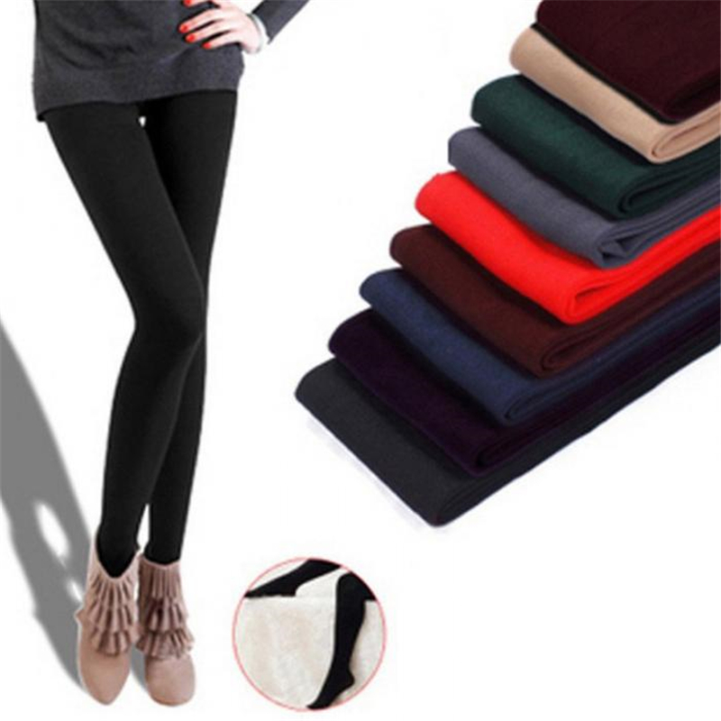 Women Autumn Winter Warm   Leggings   High Elasticity Thick Warm Pants IK88