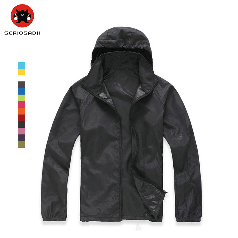 Spring-Summer outdoor Camping & Hiking jacket windbreaker windproof climbing shirt quick dry Rain coat for Women&Men sportswea