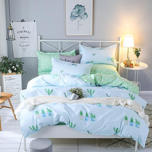 2018 Bedding Set Summer Style Duvet Cover Queen Bed Sheet Geometric