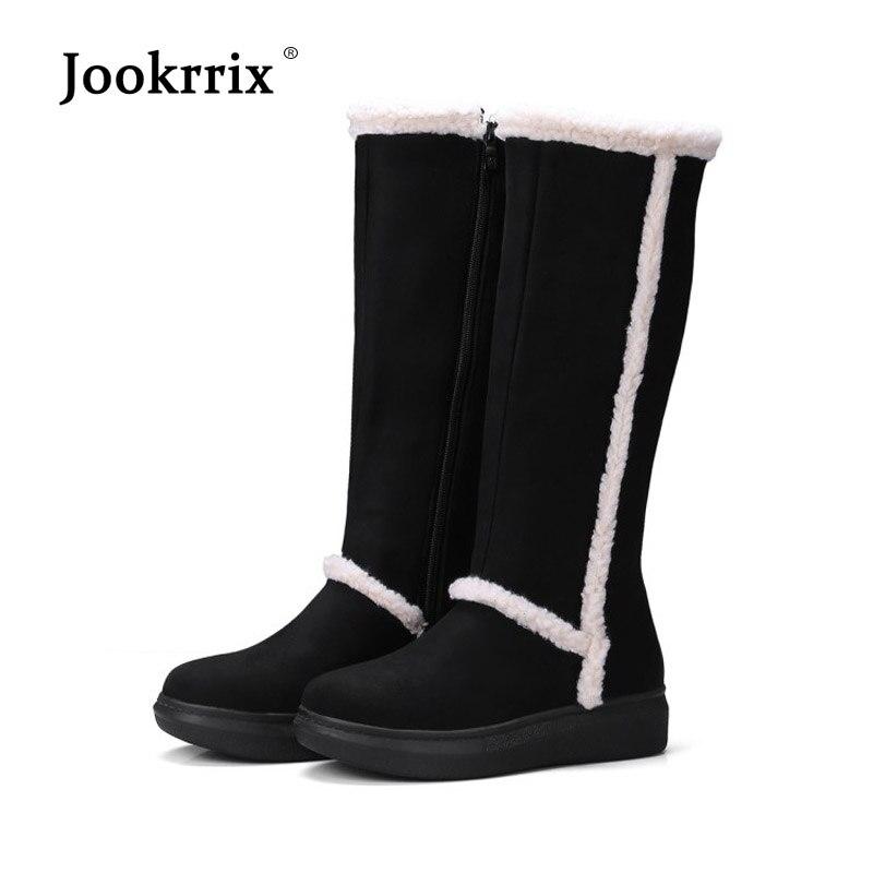 be614d0d0fcd7f Femelle Chaussures D'hiver Fourrure Noir gris Veau Bottes Mode Marque  Troupeau Noir Patchwork Chaud Neige Femmes Avec Jookrrix De Fou ...