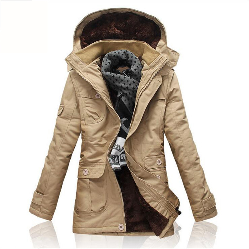 Winter Thick Jacket Men 2017 New Fashion Fleece Faux Fur Hooded Winnter Coat Hoodies Snow Warm Long Parka Man Plus Size M-5XL