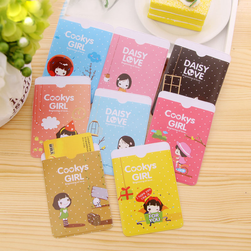 1Pcs New Super Cute Niuzai Card Sets Transportation Card Taoka Package 2 Card Slots Biscuits Girl Clip H0106