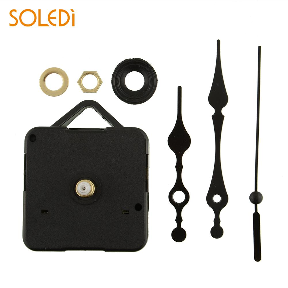 DIY Silent Clock Mechanism Classic Black Quartz Watch Wall Clock Movement Mechanism Parts Repair Replacement Essential Tools