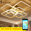 Rings Modern Led Chandelier For Living Room Dining Room Bedroom Lustres Memory Function Led Ceiling Chandelier Lighting Fixture