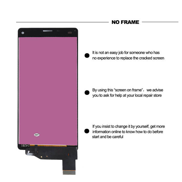 Redberry ORIGINAL Touch Screen LCD For SONY Xperia Z3 Compact Display Frame  Z3 Mini D5803 D5833 Digitizer For SONY Xperia Z3 LCD