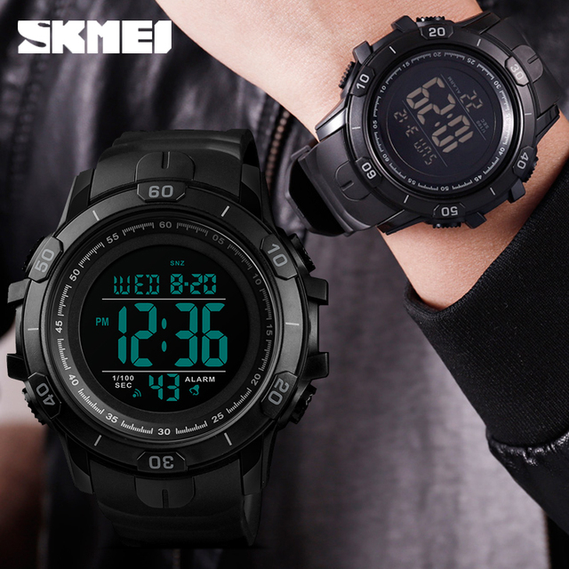 2019 New SKMEI Mens Sports Watches Fashion Outdoor Waterproof Digital Watch Men Military Wristwatches Hot Relogio Masculino 1