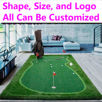 PGM Putter Trainer Practice Set Training Mat, Artificial Mat Indoor bolsas de Golf divot swing Putting Green