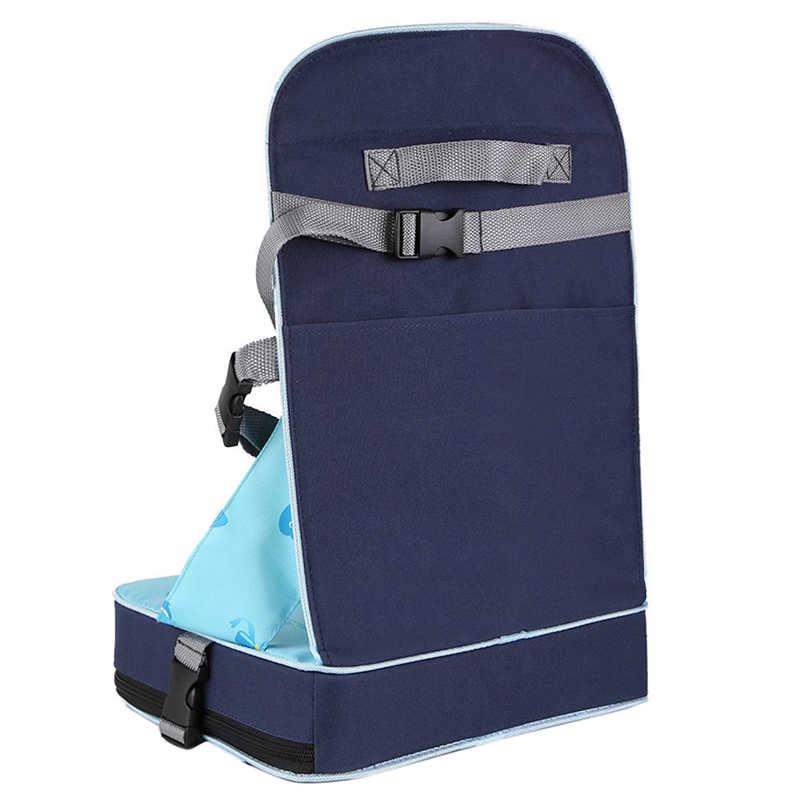 แบบพกพาพับเก้าอี้รับประทานอาหาร 30*25*8 ซม.(11.8x9.8x3.1 นิ้ว) เด็กกระเป๋าเดินทางกระเป๋าเดินทางพับที่นั่ง