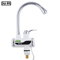 Instant Tankless Electric Water Heater Faucet Kitchen Instant Flow Water Heaters Heating Tap With LED EU