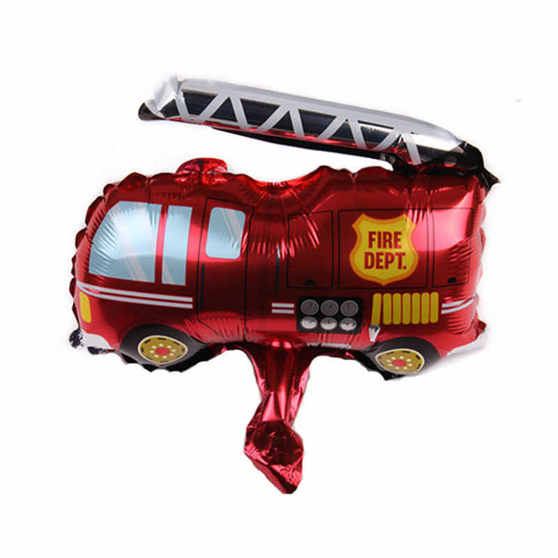 XXPWJ  New Mini Fire Truck Shaped Aluminum Balloons Festival Party Special Lecture Decoration Balloons Wholesale    B-211