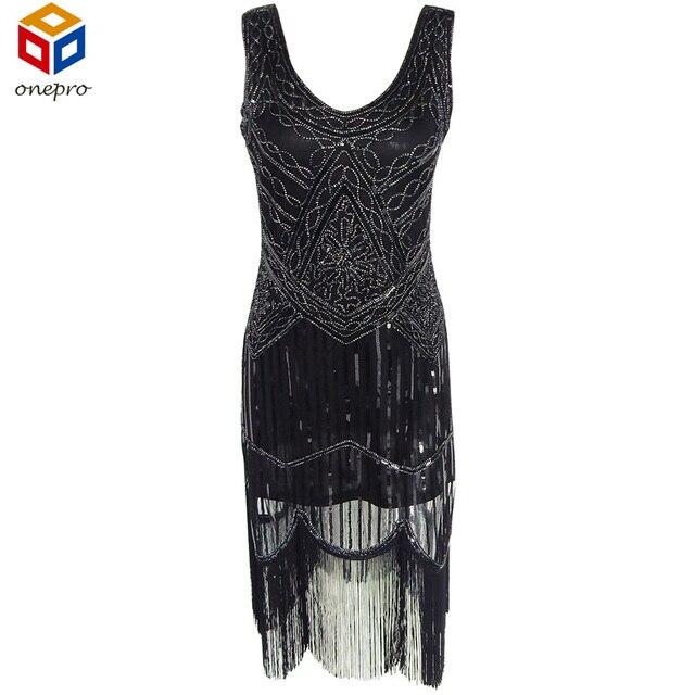 Женщины 1920 s Великий Гэтсби Хлопушки Dress Sequin Fringe Серебряный Вышивка Midi Dress Большой Размер Sheer Зима Dress Vestido Де феста