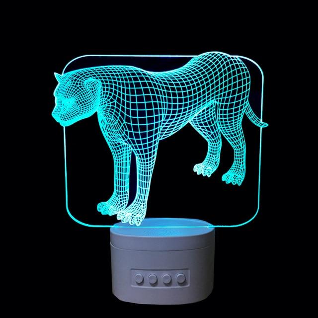 The Cheetah 3D Acrylic Night Light Bluetooth Speaker