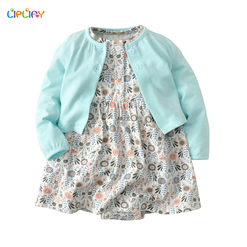 New Arrived Baby Girl Summer Clothes Set Cardigan + Romper Dress Newborn Girl Clothing Infant Spring Dress Baby Rompers Outfit