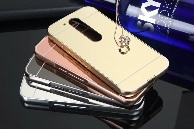 huge discount 88fb0 7092a US $4.69 |For Motorola Moto G4 / G4 Plus Plating Mirror Bumper + Mirror PC  Back Case Luxury Aluminum Frame Mobile Phone Case Coque Fundas on ...