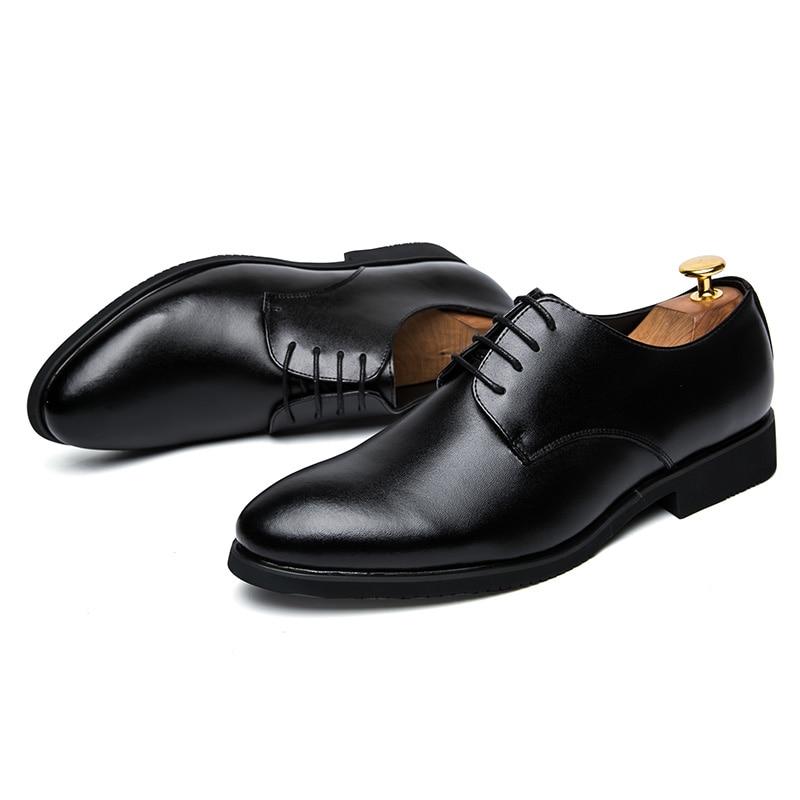 Respirant En D'affaires Brun Cuir D'été Black Luxe Chaussures Hommes Formelle Décontractée brown Noir Bureau Automne Oxford De Robe xwqABCnp