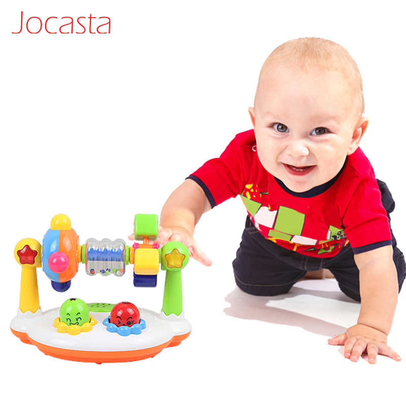 Musical Baby Toys Music Rotating Lighting Fitness Frame Baby Educational Toys for Children Sound&Flash Toys Musical Instruments]
