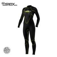 SLINX Открой 1107 5 мм неопрена Для женщин Подкладка из флиса теплые Мокрые одежды спорта людей Одежда заплыва Виндсерфинг подводное плавание по