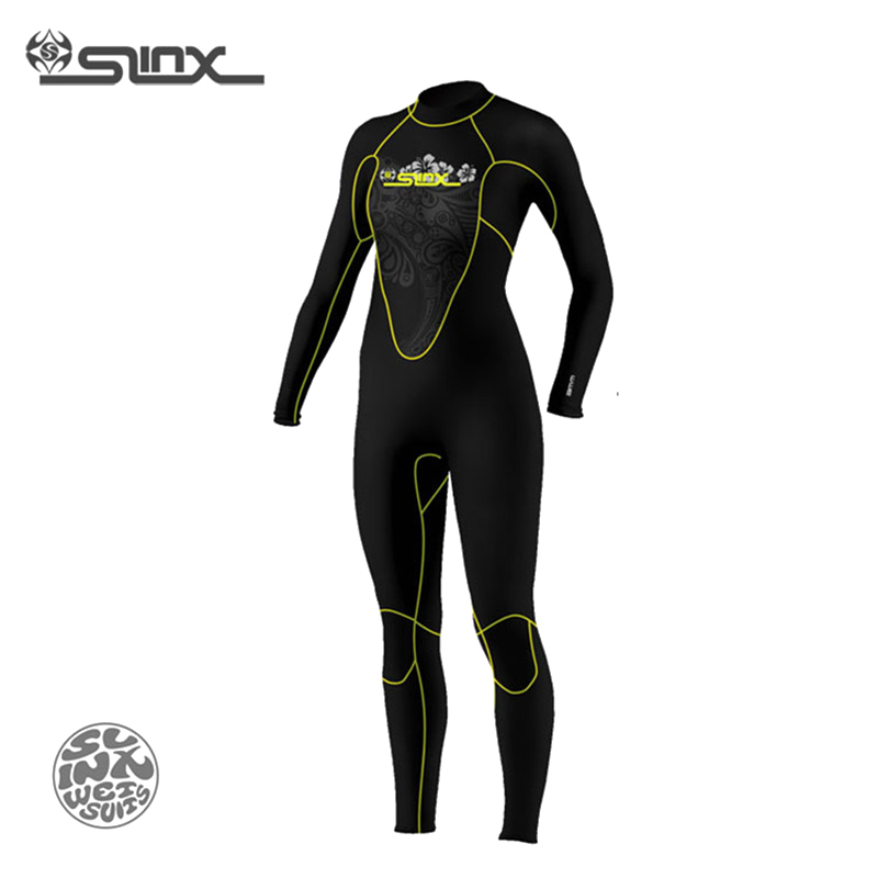 SLINX DISCOVER 1107 5mm Neoprene Women Fleece Lining Warm Wetsuit Swimming Windsurfing Snorkeling Spearfishing Scuba Diving Suit slinx 1106 5mm neoprene men scuba diving suit fleece lining warm wetsuit snorkeling kite surfing spearfishing swimwear page 1