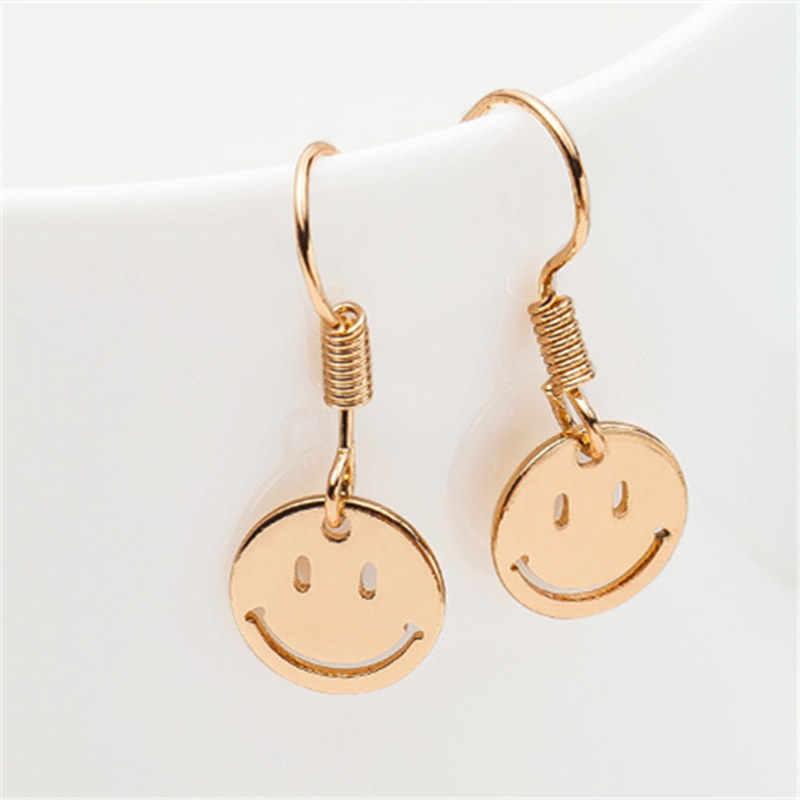 ZCHLGR kolczyk kolczyki do uszu lato Smiley face ze stali nierdzewnej kobiet mody kreatywny prezent na sprzedaż