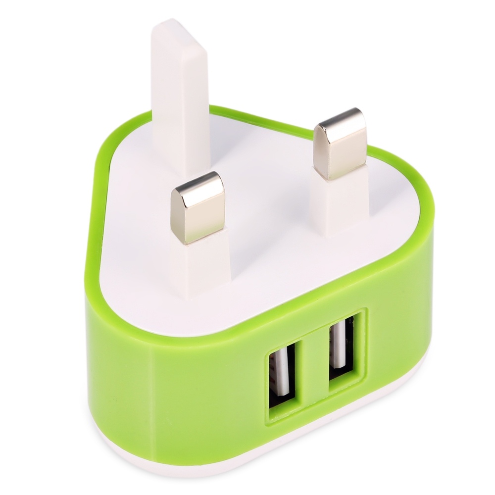 5V/2A usb Charger Adapter for United Kingdom Travel Adapter for iPhone UK Plug Universal Dual USB Port Wall Power Adapter
