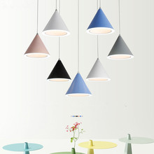 Chandeliers Lights for dining room living room Lamps Macaron color Cone shap