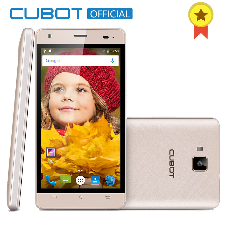 CUBOT ECHO Android 6.0 MTK6580 Quad Core Smartphone 2GB RAM 16GB ROM Cell Phone 5.0 Inch 3000mAh Unlocked Mobile Phone