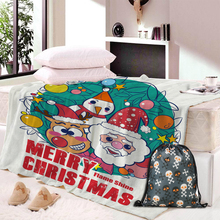 Dropship Christmas Decorations For Home Blanket Fleece Fabric Snowman Santa Pattern Print Warm Autumn Winter