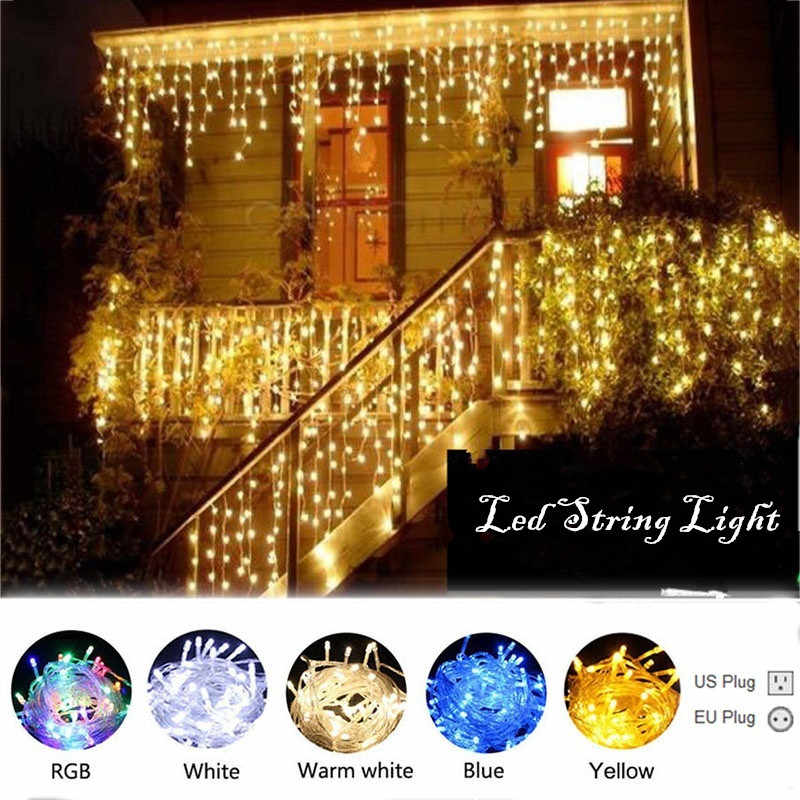 LED String Lights 10M 20M 30M 50M 100M Outdoor Party Garland Christmas Decoration Wedding Garden Decorative LED Light String