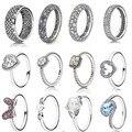 2015 colección Otoño anillo de 925 anillos de plata esterlina para las mujeres corazones y estrellas Anillos anillos de plata fina Memnon joyería conjunto