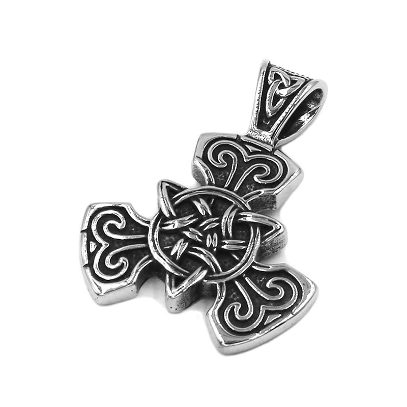 Us 2 71 5 Off Fashion Celtic Knot Pendant Stainless Steel Thor Hammer Norse Viking Biker Mens Women Pendant Claddagh Style Wholesale Swp0501a In