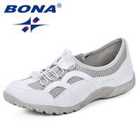 BONA New Outdoors Adults Trainers Running Shoes Woman Mesh Footwear Sport Athletic Breathable Female Sneakers 2019 Spring Autumn