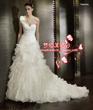sexy strapless dress for women long back wedding 2013 free shipping white lace Customize boutique