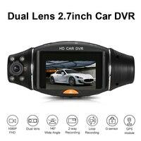 1080P HD 2 7 Dual Lens 140 Degree Wide Angle Night Vision Dash Cam Car DVR