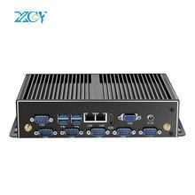 XCY endüstriyel Mini PC Intel Core i7 5500U çift Gigabit Ethernet WiFi RS232 RS485 HDMI VGA 8xUSB 3G/4G LTE Windows Linux fansız