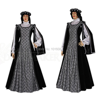 Customer to order!Luxs Black Duchess 1800 Renaissance Gothic Theater Victorian Gown Ball Dress Reenactment dresses HL 197