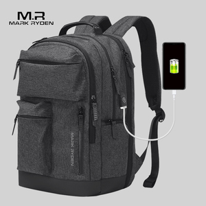 Image 3 - Mark Ryden Man Backpack Multi layer Space 15.6 inch Laptop USB Recharging Travel Male Bag Anti thief Mochila