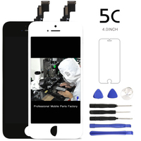 20PCS LOT For IPhone 5C LCD Display Assembly Screen Replacement With Camera Holder