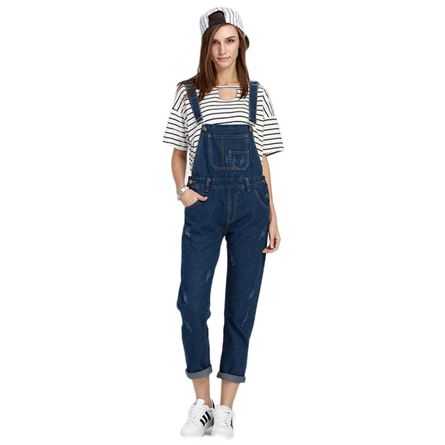 57553b71356 S-5XL New Casual Jeans Bodysuit summer rompers womens jumpsuit Office  Fashion Denim Overalls Loose Long Pants Femme large size