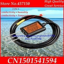 2 in 1 soil electric conductivity  sensor 0 2V 4 20mA  RS485  soil temperature and humidity soil conductivity sensor EC sensor