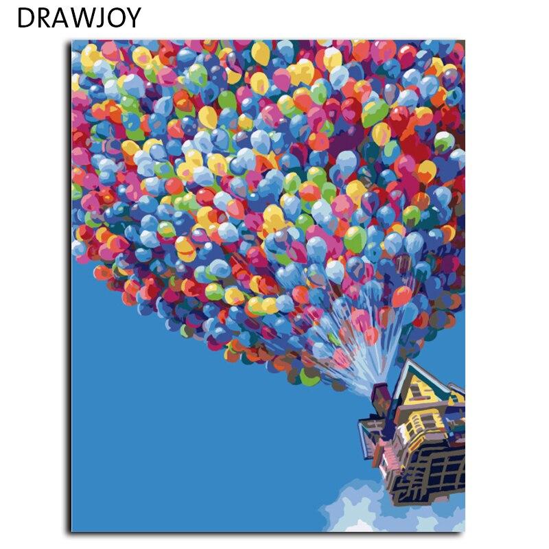 DRAWJOY Nuovo Arrivo Frameless DIY Pittura A Olio By Numbers Pittura Acrilica Unqiue Regali di Nozze Decorazione di Arte Della Parete 40*50 cm G396