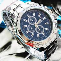 Relojes Hombre de lujo reloj de negocios de moda para Hombre reloj de cuarzo deportivo resistente al agua de acero inoxidable reloj deportivo Nibosi Montre