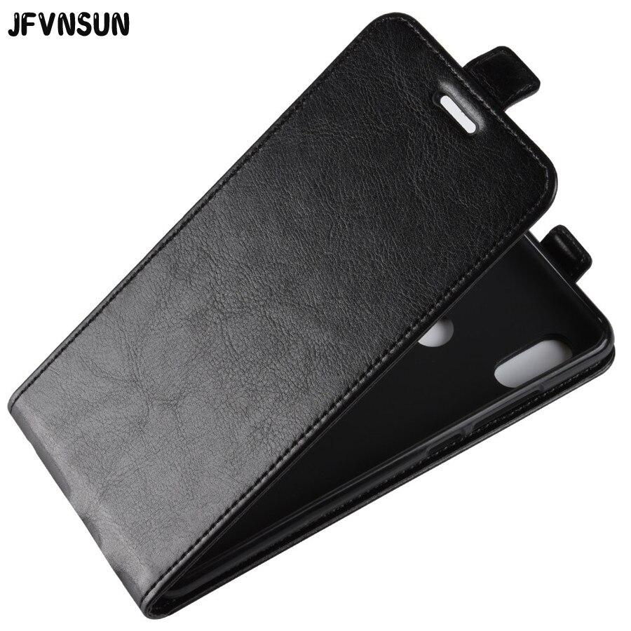 """JFVNSUN For Redmi Note 5 Case Snapdragon 636 Retro Leather + Silicone Vertical Flip Case For Xiaomi Redmi NOTE 5 pro Cover 5.99"""""""
