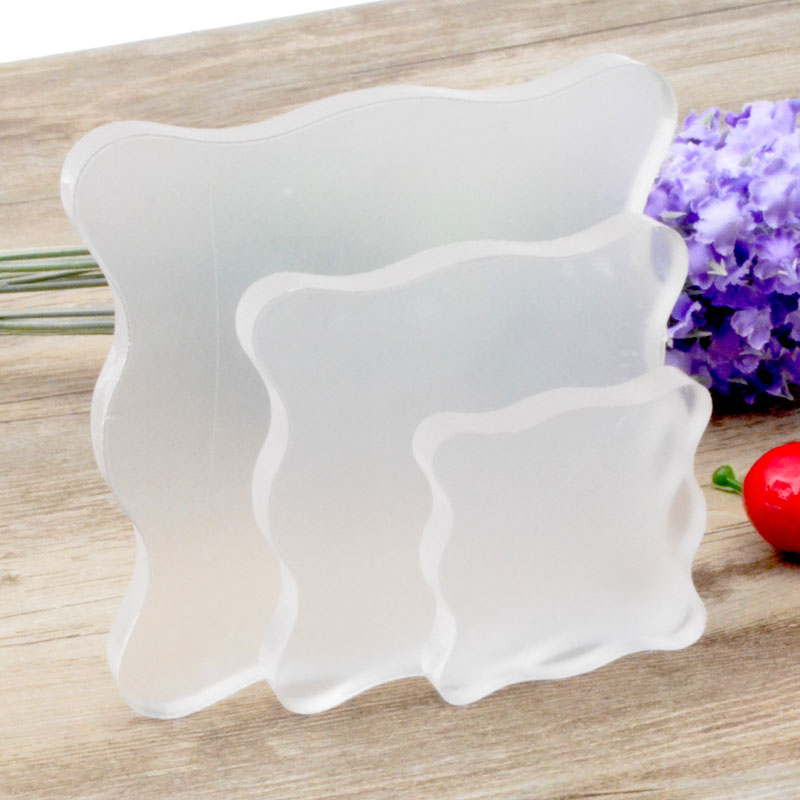 DIY Scrapbooking Transparent Clear Silica Gel Stamp Block Acrylic Pad Color Process Essential Tool Tinted
