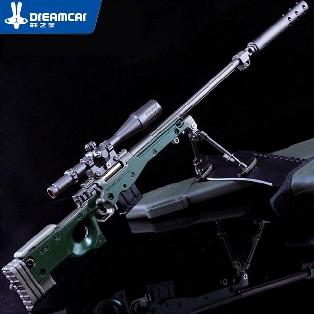 Decoração de Interiores de automóveis Jogo Brinquedos Metal modelo Brinquedos Modelo AWM Sniper Rifles Sniper Rifles armas Artesanato presentes das Crianças