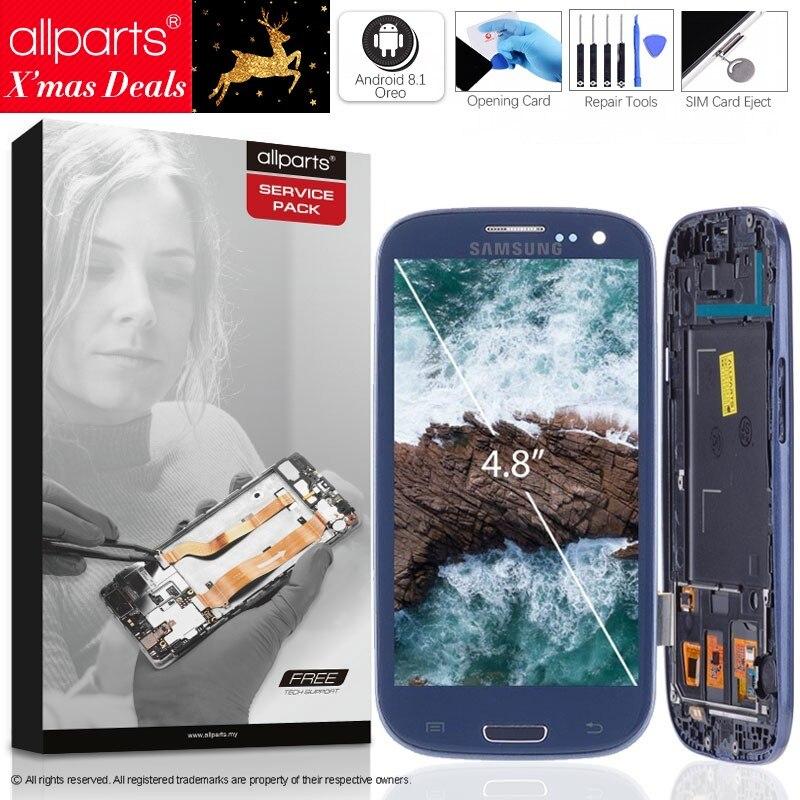 I9300 Display Für SAMSUNG Galaxy S3 LCD Bildschirm mit Rahmen Ersatz Für SAMSUNG S3 i9300i Display i9301 i9308i i9301i