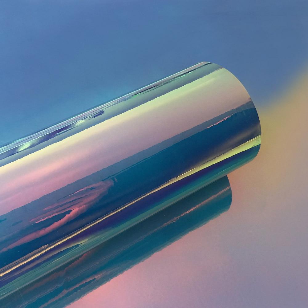 50x200 см/лот Автомобильная Радужная голографическая Хромовая пленка виниловая оберточная Лазерная хромированная зеркальная покрывающие наклейки Наклейка авто украшение Stlying - Название цвета: Tiffany