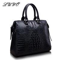 Crocodile Women Bags Designer Genuine Leather Alligator Brand OL Handbags Luxury Cowhide Shoulder Messenger Top Handle