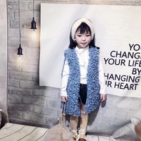 Children's coat 2018 winter new girls vest children's plush vest sleeveless fur jacket